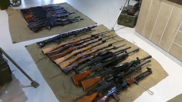 Кадры задержания сотрудников стрелкового клуба Паритет-СВ