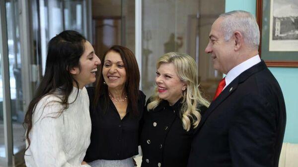 Встреча премьер-министра Израиля Биньямина Нетаньяху с Наамой Иссахар