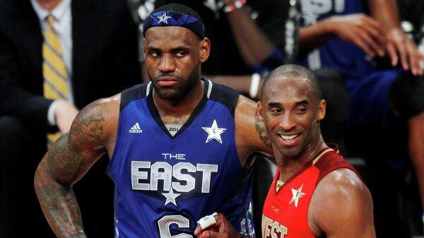 Баскетболисты Леброн Джеймс и Коби Брайант