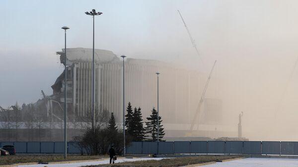Обрушение крыши СКК Петербургский