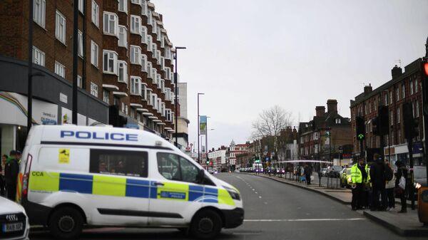 Полиция на месте происшествия в районе Стретэм, Лондон. 2  февраля 2020