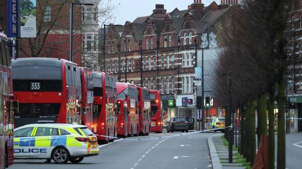 Ситуация на месте происшествия в районе Стретэм, Лондон. 2 февраля 2020