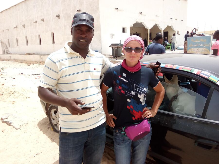 Африка. Мавритания. Переход границы