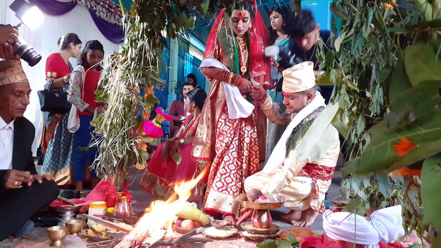 Непал. Церемония бракосочетания брахманов