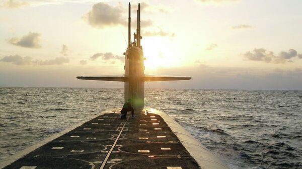Ракетные шахты на подводной лодке класса Огайо USS Wyoming