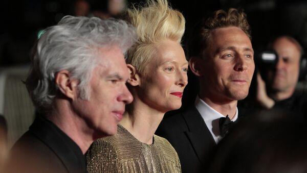 Джим Джармуш, Тильда Суинтон и Том Хиддлстон на 66-м Каннском кинофестивале