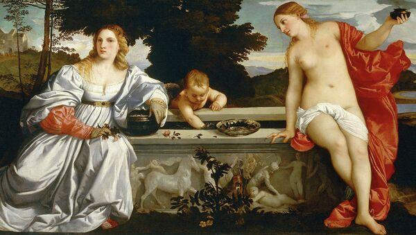 Тициан. Любовь земная и небесная, 1514. Галерея Боргезе, Рим