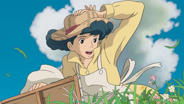Кадр из анимационного фильма Ветер крепчает