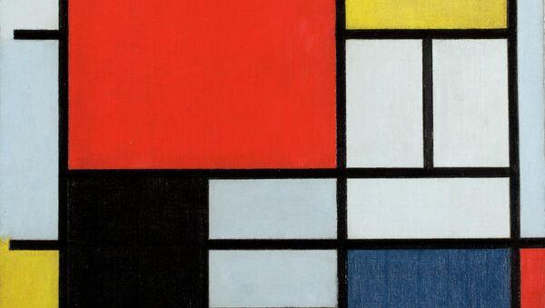 Пит Мондриан. Композиция с Красным, Желтым, Синим и Черным. 1921. Фрагмент