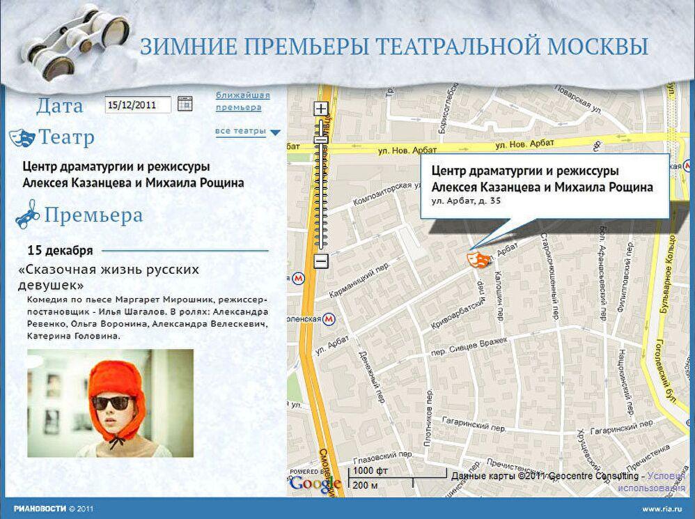 Зимние премьеры театральной Москвы