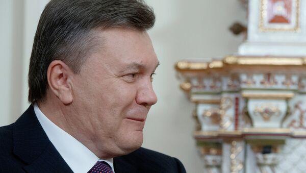 Президент Украины Виктор Янукович на встрече с президентом России Владимиром Путиным
