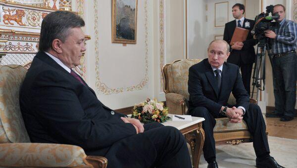Встреча Владимира Путина с Виктором Януковичем в Ново-Огарево. Архив