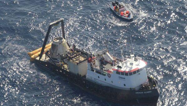 Частный космический корабль Dragon приводнился в Тихом океане