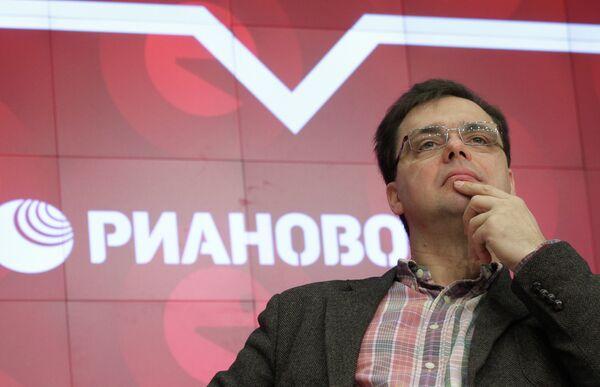 Заместитель генерального директора ФГУП РАМИ РИА Новости Валерий Левченко на НеФоруме