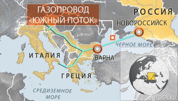 Дорожная карта по проекту Южный поток
