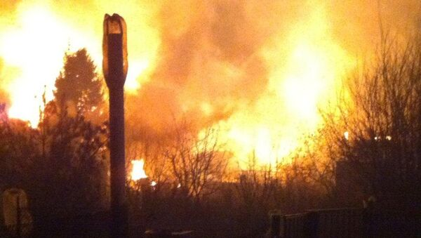 Пожар на газопроводе в Подмосковье