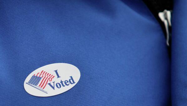 Наклейка с надписью Я проголосовал