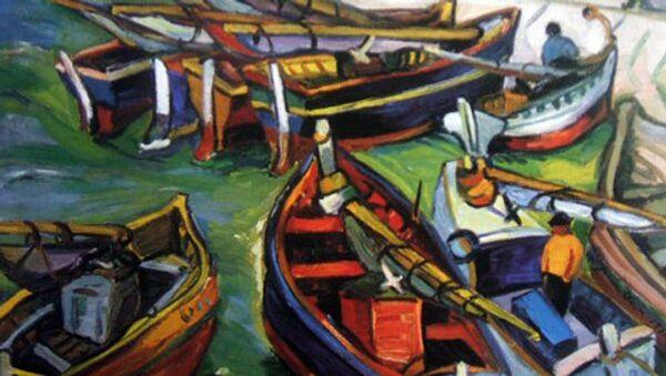 Картина Рыбацкие лодки Ирмы Стерн