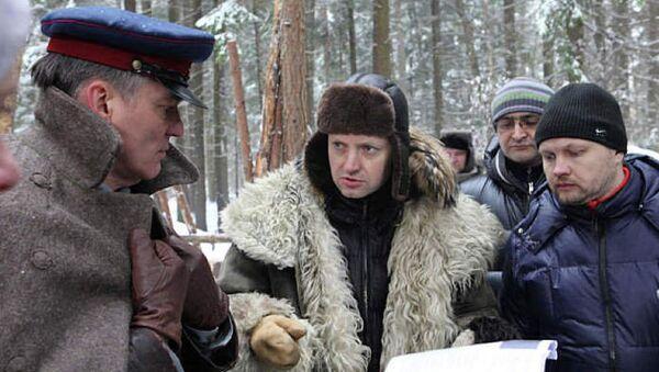 На съемках фильма Хлеб для Сталина. Истории раскулаченных