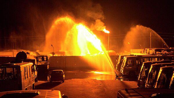 Пожар в Твери на территории газозаправочной станции