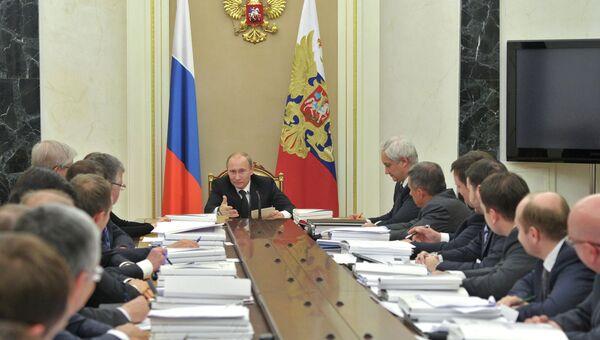 Владимир Путин на заседании наблюдательного совета Агентства стратегических инициатив, архивное фото