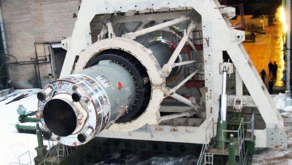 Испытания ракеты Союз-2.1в. Архивное фото