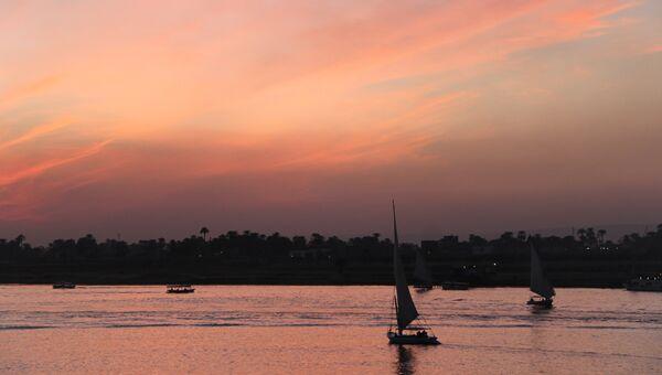 Нил близ города Луксор, Египет. Архивное фото