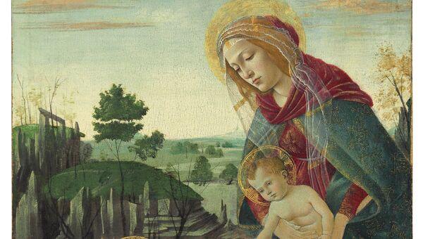 Богоматерь с младенцем Христом и св. Иоанном Крестителем. Сандро Боттичелли