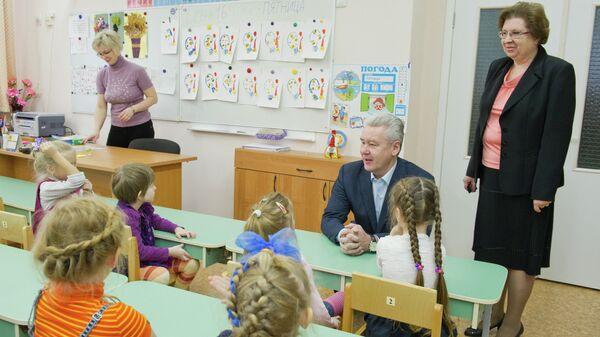 Мэр Москвы Сергей Собянин посетил новое здание детского сада в ЗАО Москвы