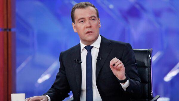 Д.Медведев на встрече с журналистами федеральных телеканалов