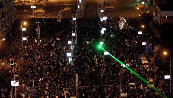 Антиправительственная демострация в Каире