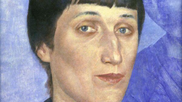 Картина Портрет Анны Ахматовой. Архивное фото