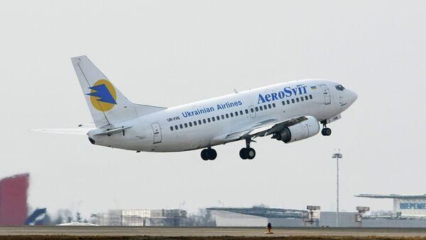 Самолет Boeing-737 украинской авиакомпании АэроСвит. Архив