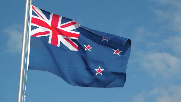 Флаг Новой Зеландии. Архивное фото