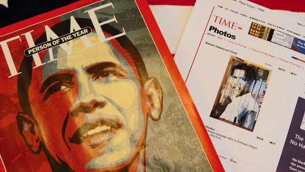 Обложка журнала Time с изображением Барака Обама как «Человек года» за 2008 год. Архив