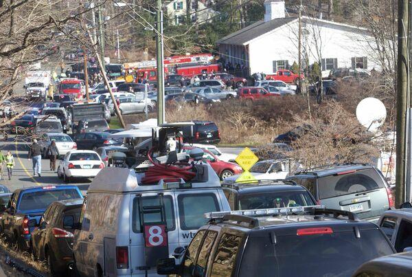 Ситуация после стрельбы в школе в Коннектикуте