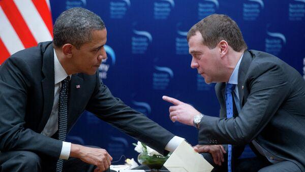 Дмитрий Медведев и Барак Обама. Архивное фото