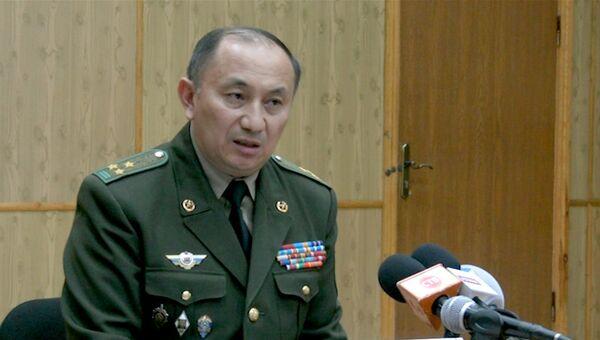 Первый заместитель директора пограничной службы Казахстана Турганбек Стамбеков