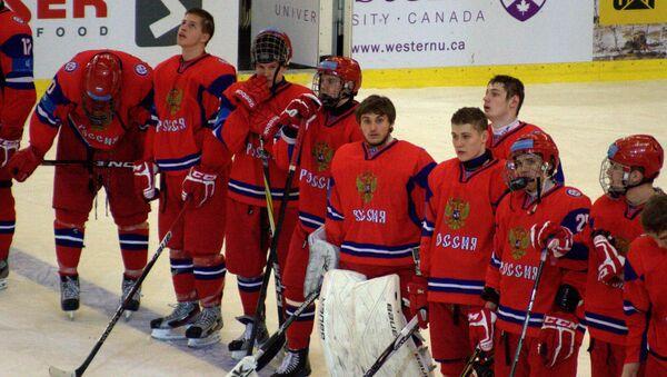 Молодежная сборная России по хоккею. Архивное фото