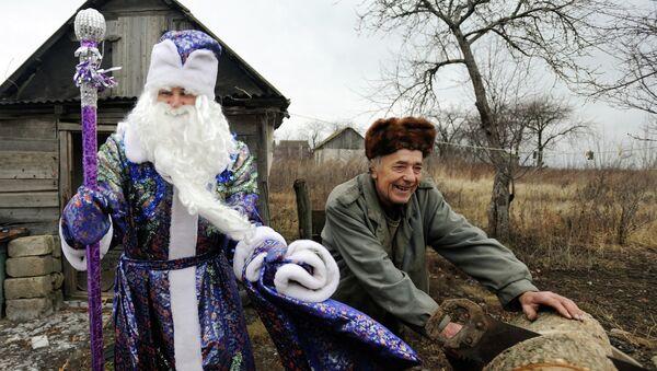 Дед Мороз поздравил жителей деревень Воронежской области