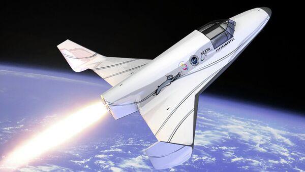 Космоплан Lynx, разработанный компанией XCOR Aerospace, архив