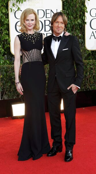 Актриса Николь Кидман и музыкант Кит Урбан на церемонии вручения премии «Золотой глобус»