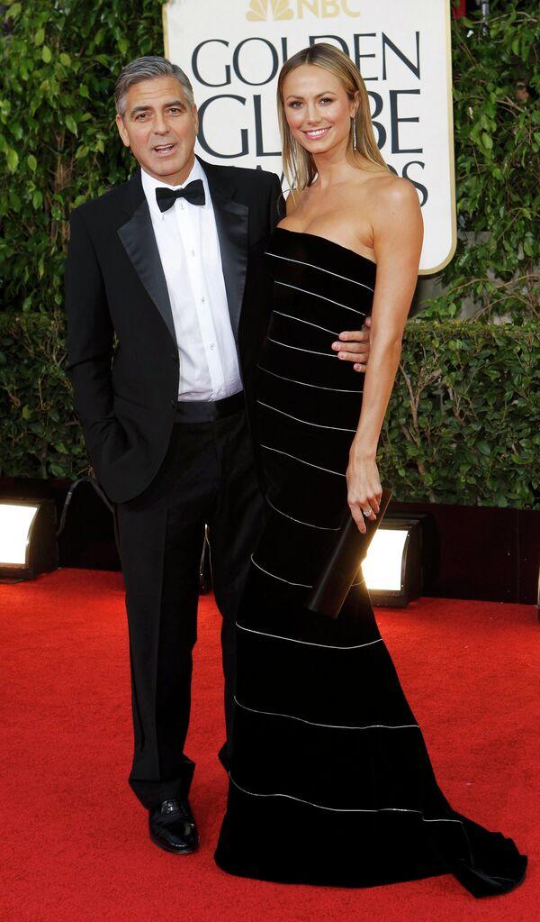 Джордж Клуни и Стэйси Кейблер на церемонии вручения премии «Золотой глобус»
