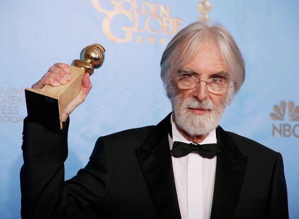 Михаэль Ханеке, австрийский кинорежиссёр и сценарист, на церемонии вручения премии «Золотой глобус»