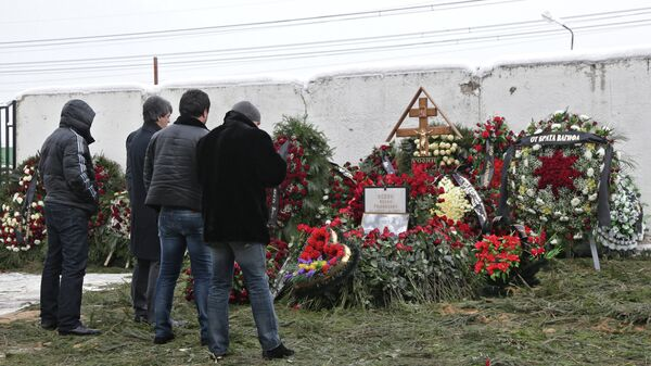 Дед Хасан похоронен на Хованском кладбище в Москве