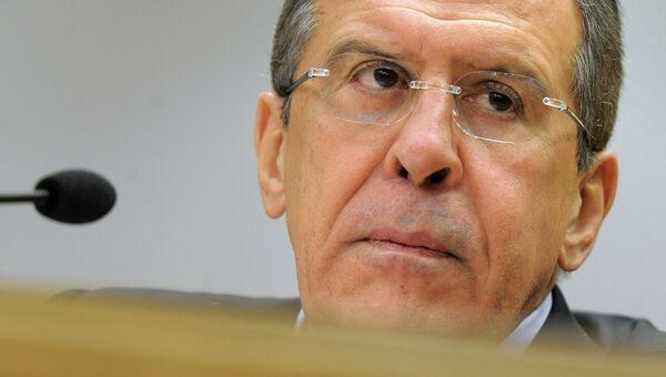 Министр иностранных дел Российской Федерации С.В.Лавров