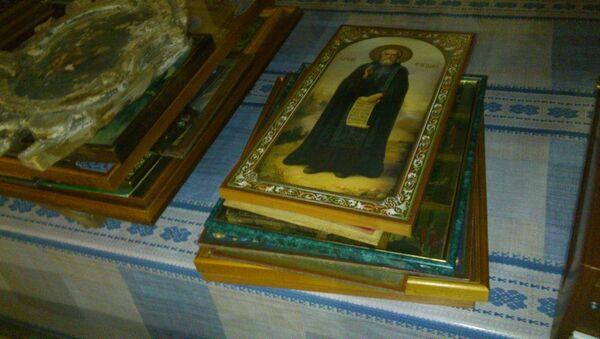 Иконы, которые удалось спасти при пожаре в Храме иконы Казанской Божьей матери