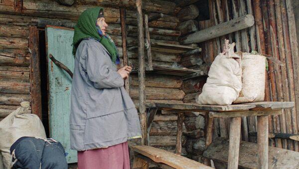 Таежная отшельница Агафья Лыкова. Архивное фото