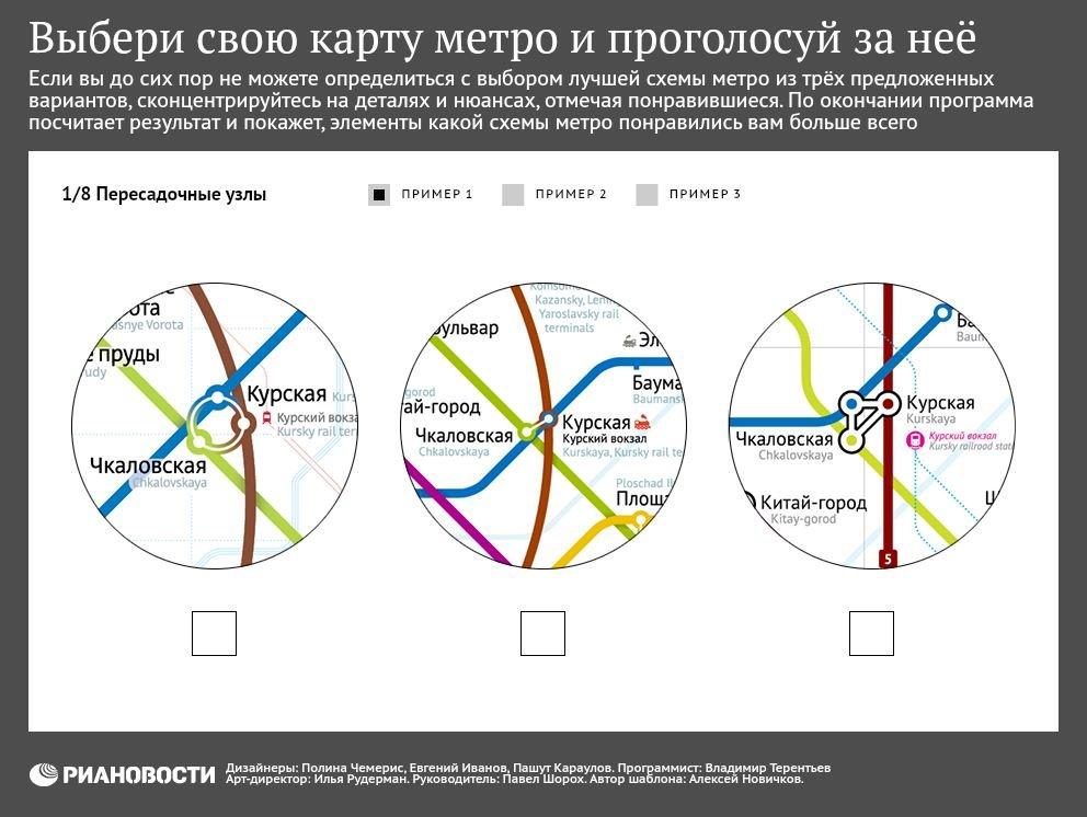 Выбери свою карту метро и проголосуй за нее