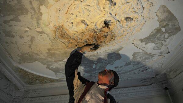 Реставрационные работы в старинном особняке в Печатниковом переулке